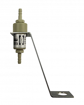 Liquid stop valve FSKS 1, H6, PN6, PP, PP, dome plate holder