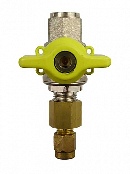 Test Valve 1/8', Brass with Cock PN63 and Plug