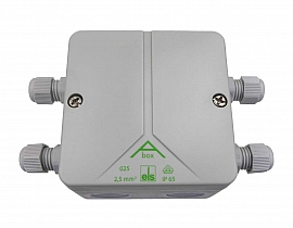 Conduit box, weather-protected, double for extension of sensor cable LS 50