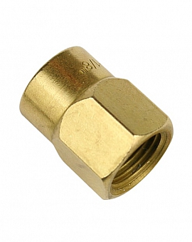 Connection Nut KV6 Brass
