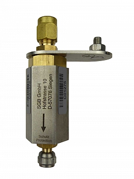 Deto.flame arrester F501 UPP, brass, Schrader valve - CF8/6