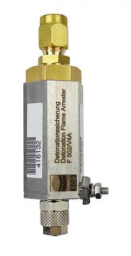 Deto.flame arrester F502 UPP, brass, QU8/6 - CF8/6