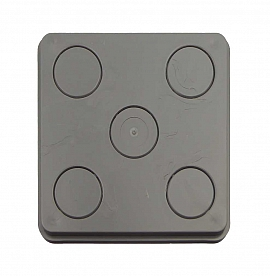Flange plate E, ABS, dark grey