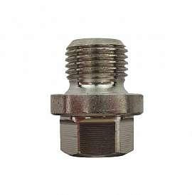 Plug, G1/8', ss, with flange