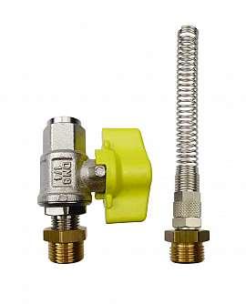 Installation kit pipe, brass, R3/8''m - QU8/6