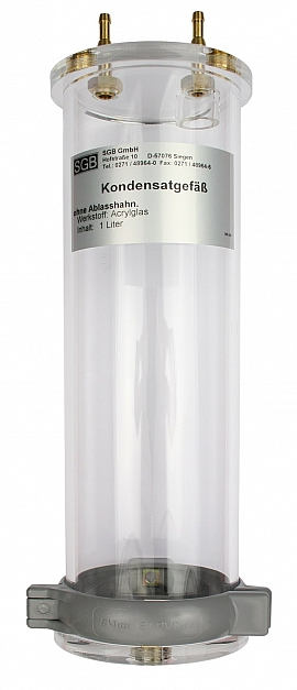 Kondensatgefäß, S4, 1 Liter, MS/MAK, Ablaßschraube