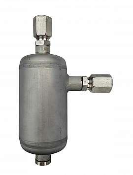 Condensate trap, CF8/6, 100ml, ss, 25bar, drain plug
