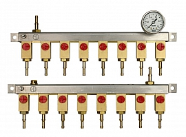 Manifold 8 tanks, gauge 1bar, H4+H6
