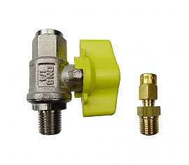 Installation kit pipe, brass, R1/4'm - CF6/4