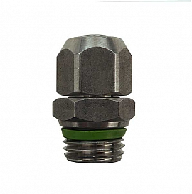 Straight Quick Union QV8/6 - G1/8'male Stainless Steel, for PA Hose 8/6x1mm