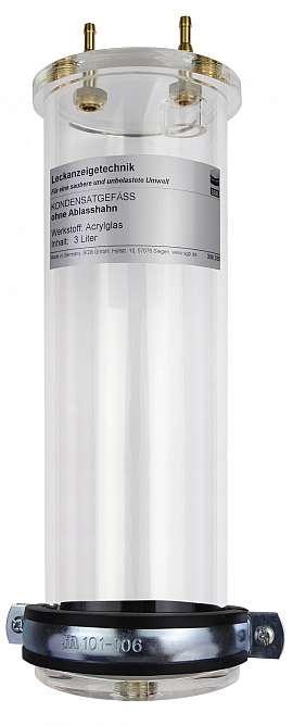 Kondensatgefäß, S4, 3 Liter, MS/MAK, Ablaßschraube, PVC-Schlauch 8/4x2mm