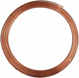 CU pipe, 6/4x1mm, soft, 50m ring
