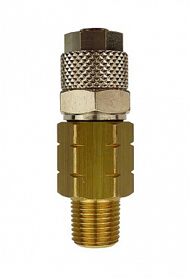 Pipe Connection, OPW - QV8/6 NPT 1/8'', 8/6 mm Quick Union, Brass