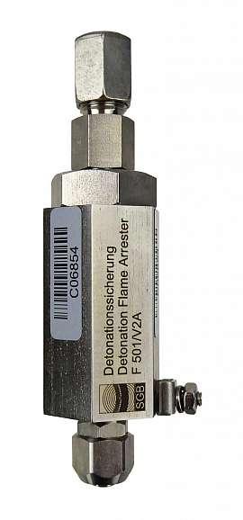 Deto.Flame arrester F501 UPP, stainl.st. QU8/6 - CF8/6