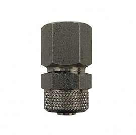 Straight quick union, QU8/6 - G1/8'f, ss, PA hose 8/6x1mm