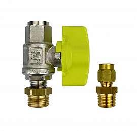 Installation kit pipe, brass, R3/8''m - CF8/6