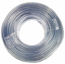 PVC-hose, clear, 10/6x2mm, 100m roll