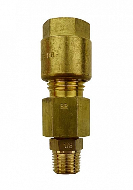 Pipe connection Durapipe, brass, 1/8'' k - CF8/6