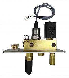 Manifold DLR-G with sensor 4 bar without pressure relief valve, 24 V DC