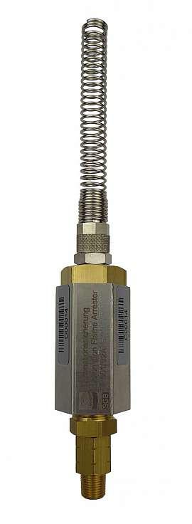 Detonation Flame Arre. F501, OPW-QV8/6 Brass, NPT 1/8'', 8/6 Quick Union