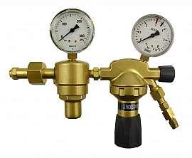 Pressure Regulator, 2-stage, 3bar, CF6/4 Inlet 200bar, Deliv. 3bar, W24,32x1/14'